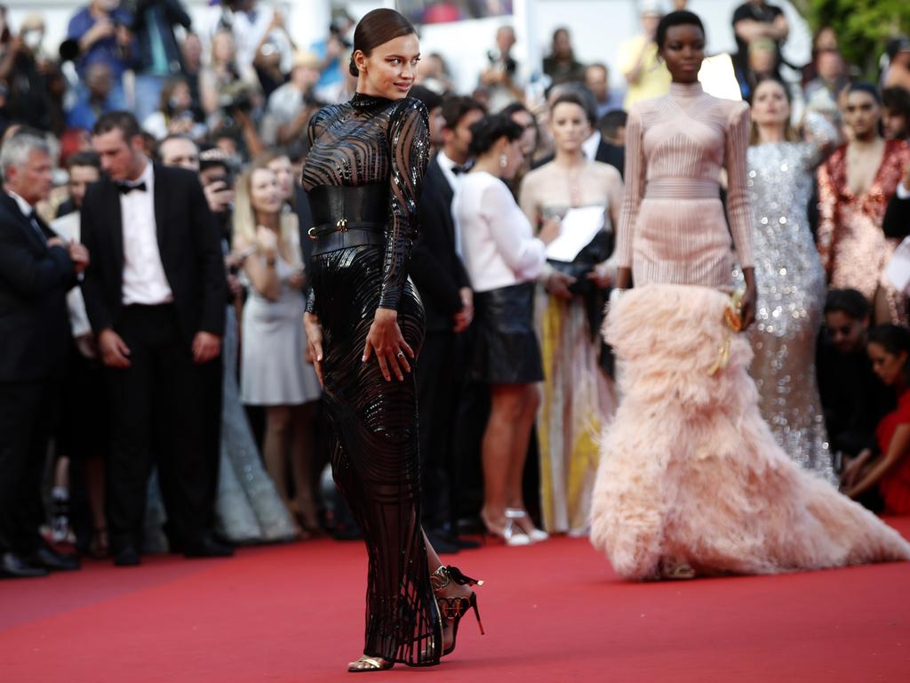Irina Shayk poses for photographers upon arrival at the screening of the film The Beguiled at the 70th international film festival, Cannes, southern France, May 24, 2017. Picture: AP