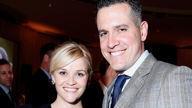 Reese Witherspoon and husband Jim Toth at the Beverly Hills Hotel in 2012. Picture: Getty Images