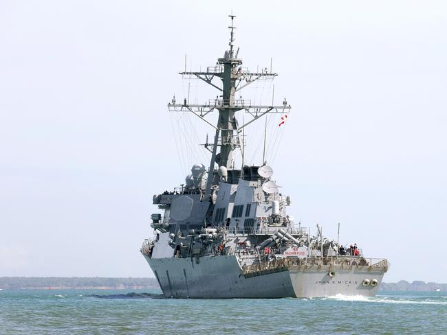The USS John S McCain sustained damage in the incident.
