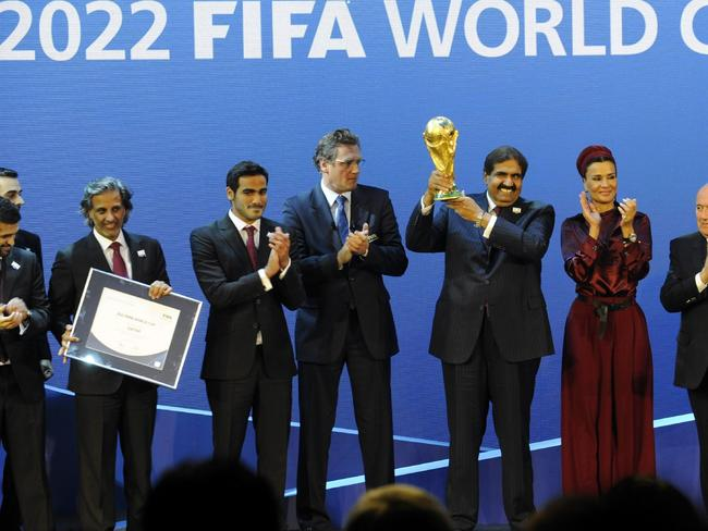 Pay off? ... The delegates from Qatar after winning the right to host the 2022 Soccer World Cup.