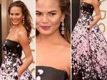 DETAILS: Chrissy Teigen on the red carpet at the Oscars 2014. Picture: Getty