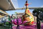 SAO PAULO, BRAZIL - JUNE 12: Artists perform during the Opening Ceremony of the 2014 FIFA World Cup Brazil prior to the Group A match between Brazil and Croatia at Arena de Sao Paulo on June 12, 2014 in Sao Paulo, Brazil. (Photo by Adam Pretty/Getty Images)