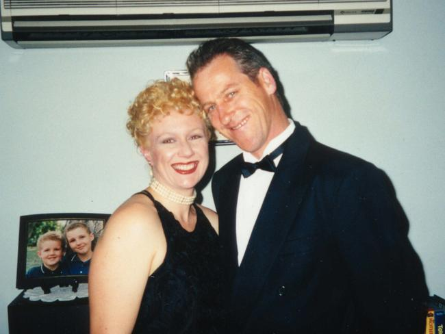 Folbigg with then husband Craig Folbigg in 1999, four years before her murder trial.