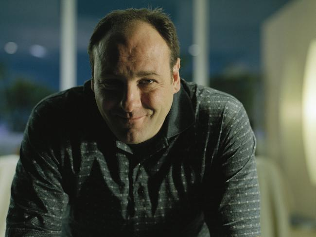 Actor James Gandolfini in a scene from TV show 'The Sopranos'.