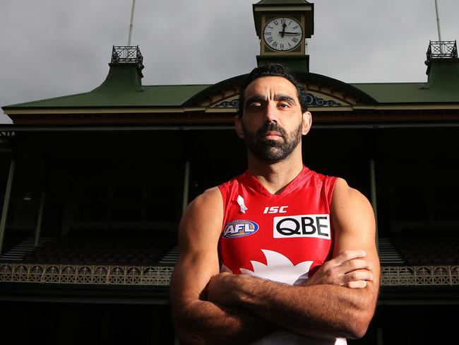 Swans captain Adam Goodes is a big supporter for White Ribbon Day against domestic violence.