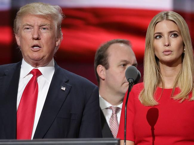Trump and Ivanka at the Republican National Convention in 2016. Picture: AFP