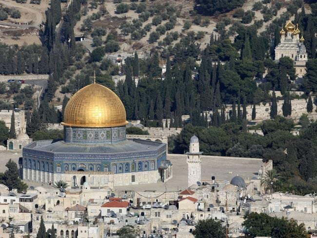 Holy of holies ... Temple Mount in Jerusalem, now occupied by the Dome of the Rock mosque, was built on the ruins at the site of the First and Second Temples of Judaism.