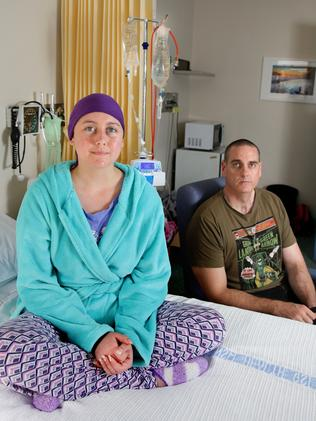 Shannon McKnight and her father Jeremy at Prince of Wales Hospital, Barker Street, Randwick. Picture: Cameron Richardson