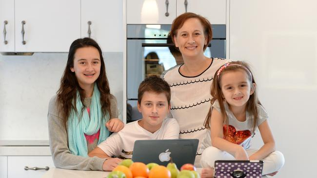Tracey McGillivray with her children Tiarna, 13, Zavier, 10 and Ava, 5.