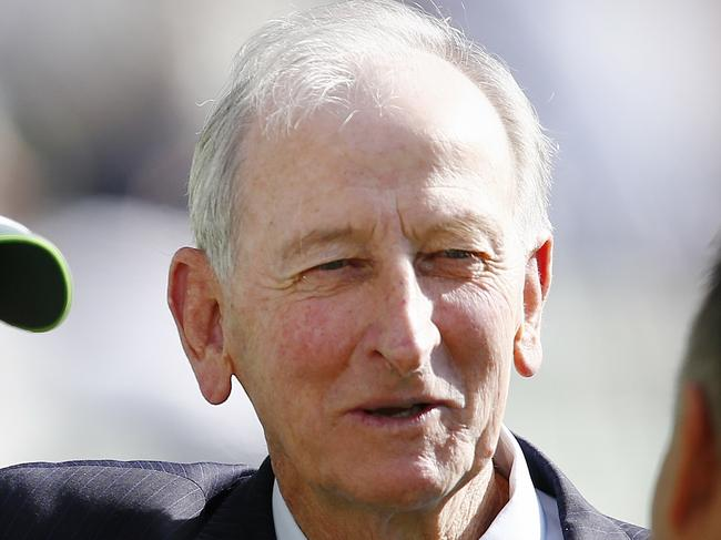 Bill Lawry remains tight-lipped on his future plans but Fox are reportedly keen to snatch him up from his Channel Nine mainstay. Picture: Wayne Ludbey