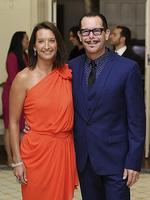 Layne Beachley and Kirk Pengilly attend a reception hosted by the Governor General Peter Cosgrove. Picture: Getty