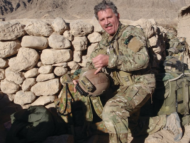 Part of one of the biggest battles of the Afghanistan war ... SAS soldier Warrant Officer Clint Palmer.
