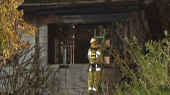 A firefighter on the scene after the flames were finally extinguished / Picture: ABC News