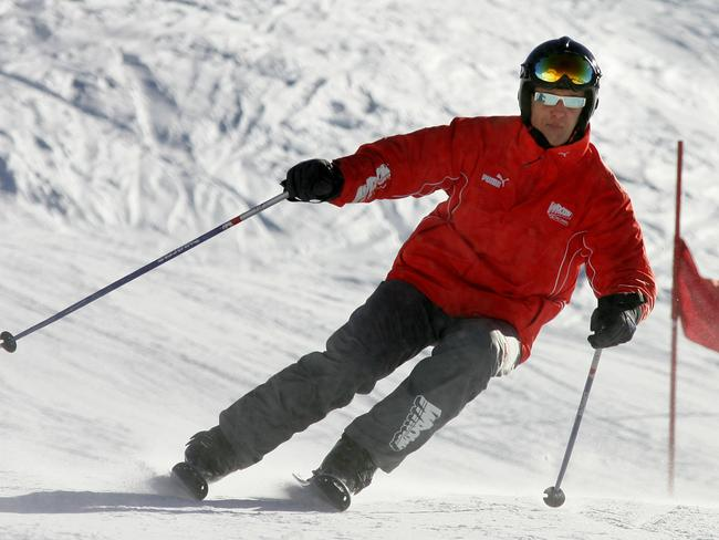 Schumacher fell into a coma after striking his head in a skiing accident in December. Picture: AFP/Patrick Hertzog