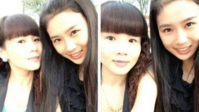 Can you tell which woman is the mother? Picture: Weibo.com