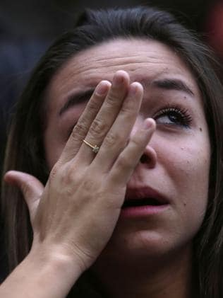 This is what a gutted soccer fan looks like.