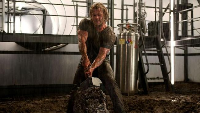Actor Chris Hemsworth in a scene from the 2011 film 'Thor'. Picture: Supplied