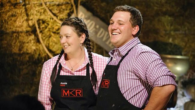 Annie and Jason aka Mr and Mrs Cheese have proved popular with My Kitchen Rules fans this