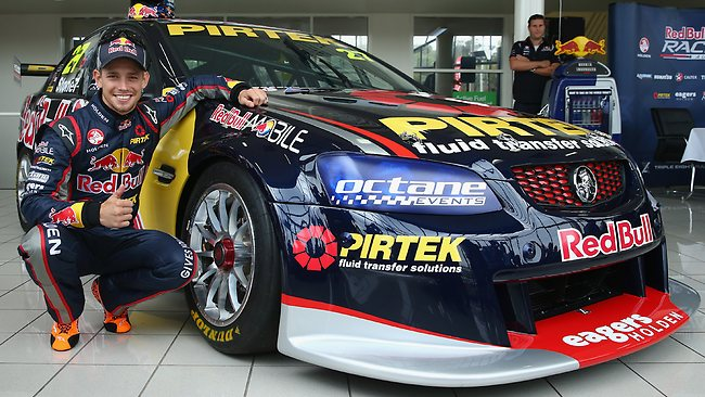 Casey Stoner with V8 car
