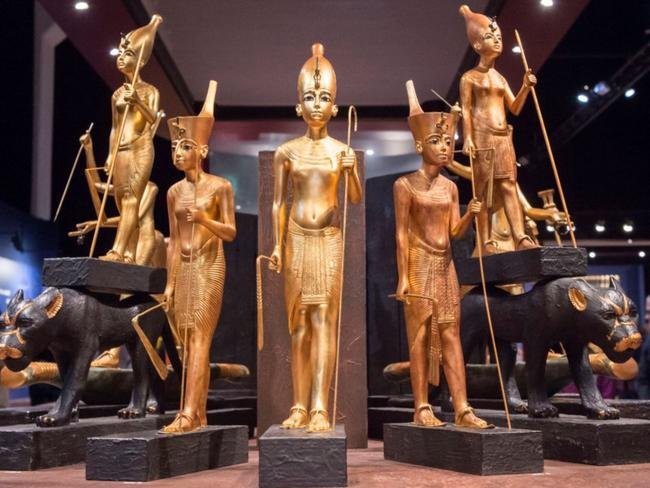 Feminine features found on much of Tutankhamun's treasure has raised eyebrows for almost a century. Source: AP
