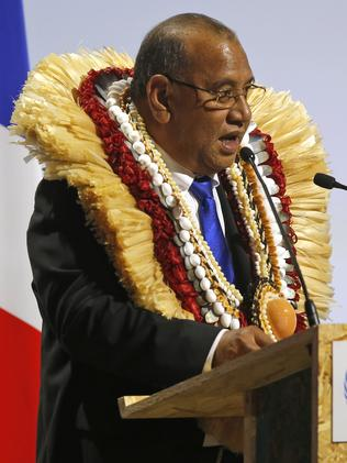 Marshall Islands' President Christopher J. Loeak. Picture: AP Photo/Michel Euler.