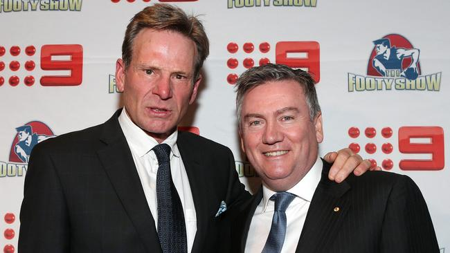 <i>The Footy Show</i> 21st birthday, Sam Newman and Eddie McGuire.