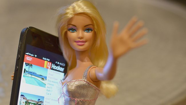 Barbie checks out some Aussie real estate apps.