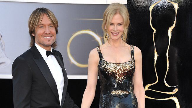Musician Keith Urban, left, and actress Nicole Kidman. Picture: AP