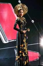 Huong Pham, Miss Vietnam 2015 ddebuts her National Costume on stage at the 2015 Miss Universe Pagaent on December 16, 2015 in Las Vegas. Picture: HO/The Miss Universe Organization