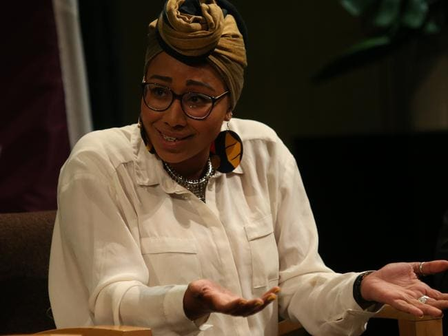 Yassmin Abdel-Magied spoke at an ANU event at the National Library in Canberra. Picture: Kym Smith
