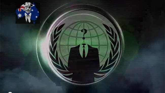 An image from the anonymous video posted on YouTube in which Premier Campbell Newman is threatened over the Queensland Government's anti-bikie laws.
