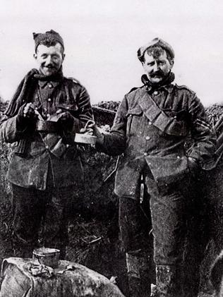 While soldiers mingled they weren't allowed to go into each others trenches. Picture: Supplied.