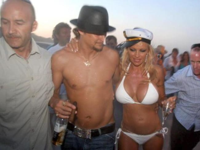 Kid Rock was married to Pamela Anderson for six months in 2006. Photo: ERIC ESTRADE/AFP/Getty Images.