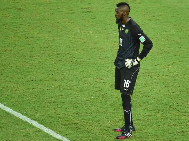 Cameroon goalkeeper Charles Itandje was the victim of abusive chants in the World Cup Group A match against Mexico.