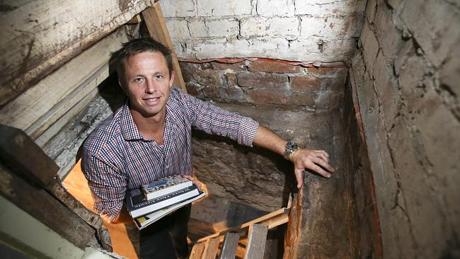 Richard Lutterbeck and the basement that boosted the sale of his Kendall St, Surry Hills property.