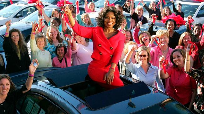 Oprah's car giveaway made television history.