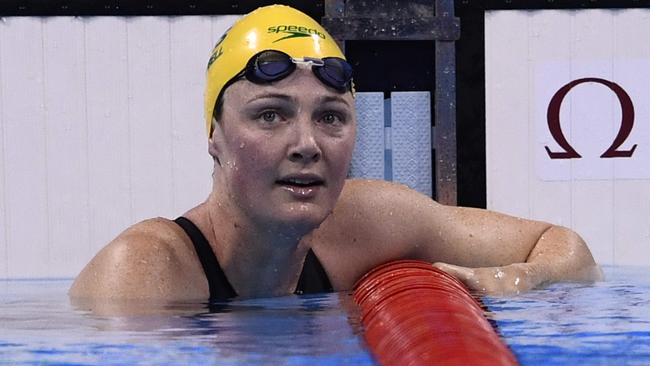 Cate Campbell after the 100m freestyle final at the Rio Olympics.