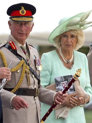 Paying respect ... Prince Charles, Prince of Wales and Camilla, Duchess of Cornwall during the 70th Anniversary commemorations of VJ Day. Picture: Ben A. Pruchnie/Getty Images