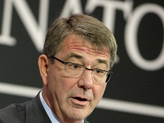 US Secretary of Defence ... Ash Carter met NATO defence ministers to discuss Turkey's request to help deal with Europe's ongoing migrant crisis. Picture: AP