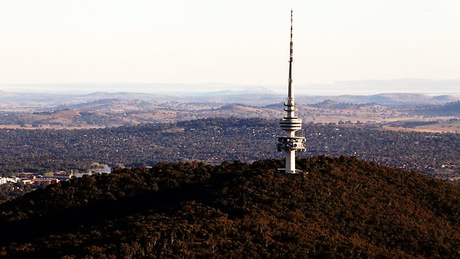 Black Mountain tower in Canberra. Picture: Craig Greenhill