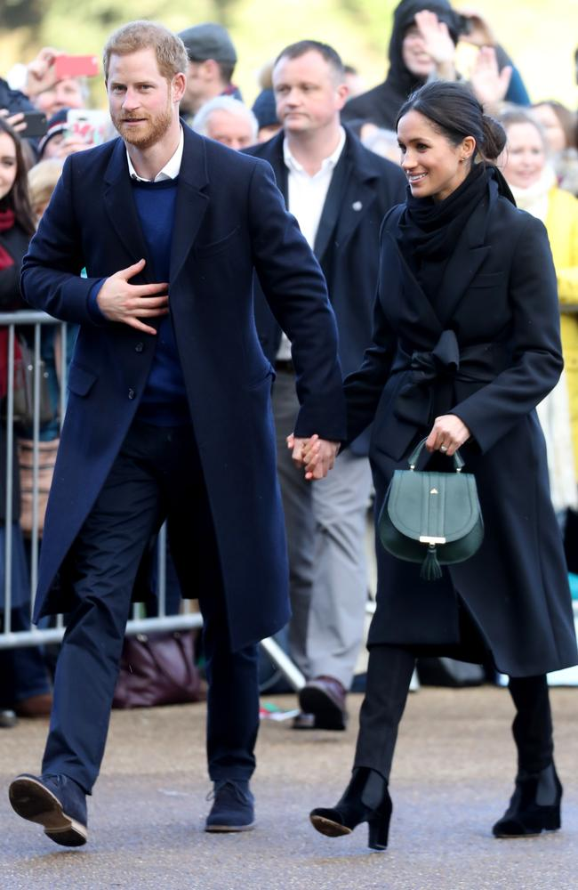 Stylish couple Prince Harry and his Meghan Markle in Wales. Picture: AFP