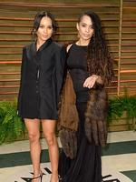 Actresses Zoe Kravitz and Lisa Bonet attend the 2014 Vanity Fair Oscar Party. Picture: Getty