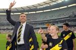 Richardson waves goodbye to the Richmond faithful. Picture: News Limited