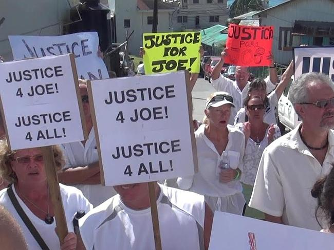 The streets were crowded with Joe's supporters. Picture: Supplied
