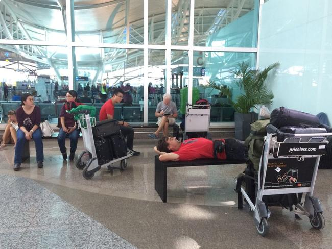 More than 400 Tigerair passengers have been stranded in Bali after the Indonesian government unexpectedly cancelled an agreement that allowed the airline to fly to the archipelago nation. Picture by Raiza Andini