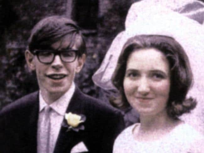 Professor Stephen and Jane Hawking on their wedding day in undated photo from her book 'Music to Move the Stars'.