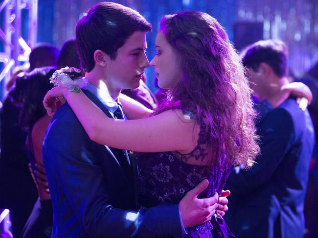 Dylan Minnette and Katherine Langford star in the new Netflix series 13 Reasons Why.