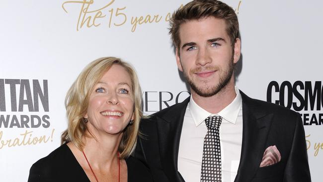 Liam Hemsworth and his mother Leonie.