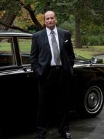 <p>Lachy Hulme as Kerry Packer for Nine's Howzat! Picture: Nathasha Blankfield</p>