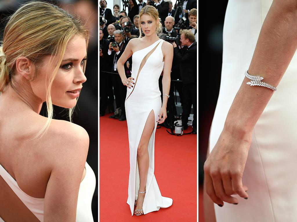 Doutzen Kroes attends the opening ceremony and premiere of 'La Tete Haute' ('Standing Tall') during the 2015 Cannes Film Festival. Picture: Getty